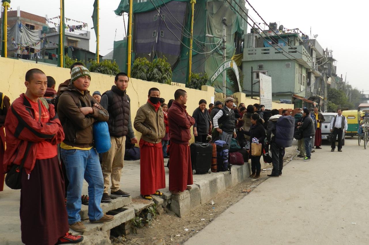 Tibetan public at Majnu Tilla