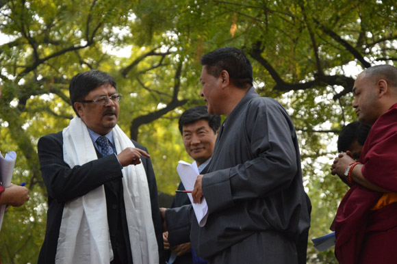Shri Chandan Mitra with Sikyong and Speaker